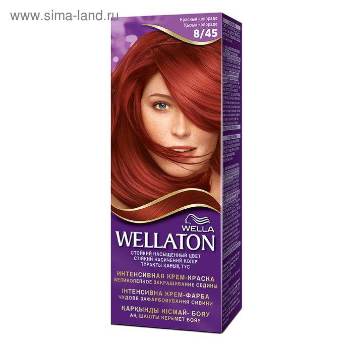 "Крем-краска Wellaton ""Красный колорадо 8/45"", 60 мл"