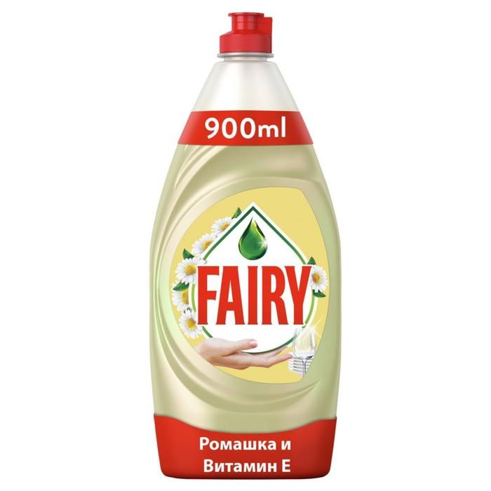 """Средство для мытья посуды Fairy """"Нежные руки"""" - """"Ромашка и витамин Е"""", 0,9 л"""