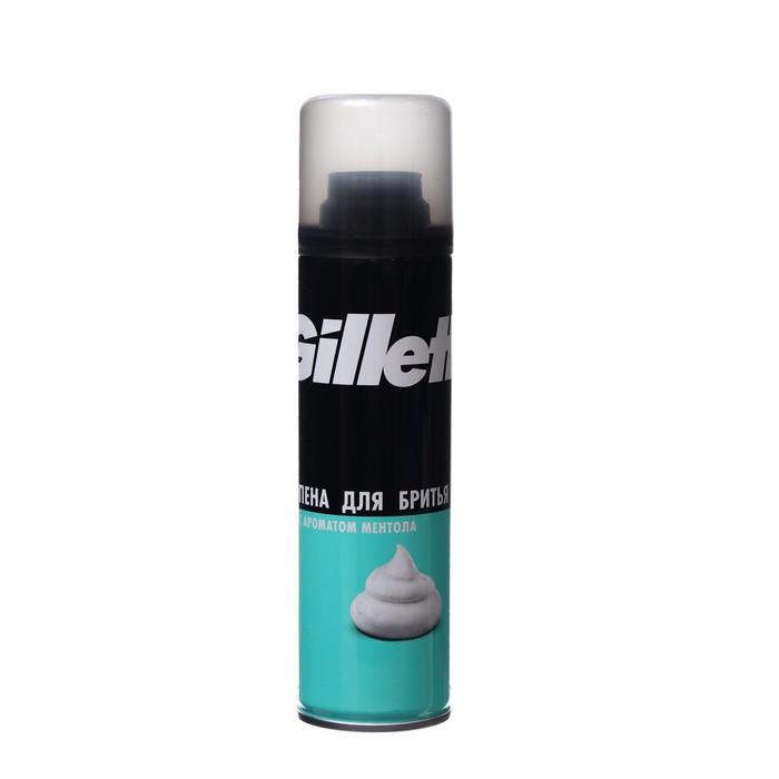 Пена для бритья Gillette Menthol с ароматом ментола, 200 мл
