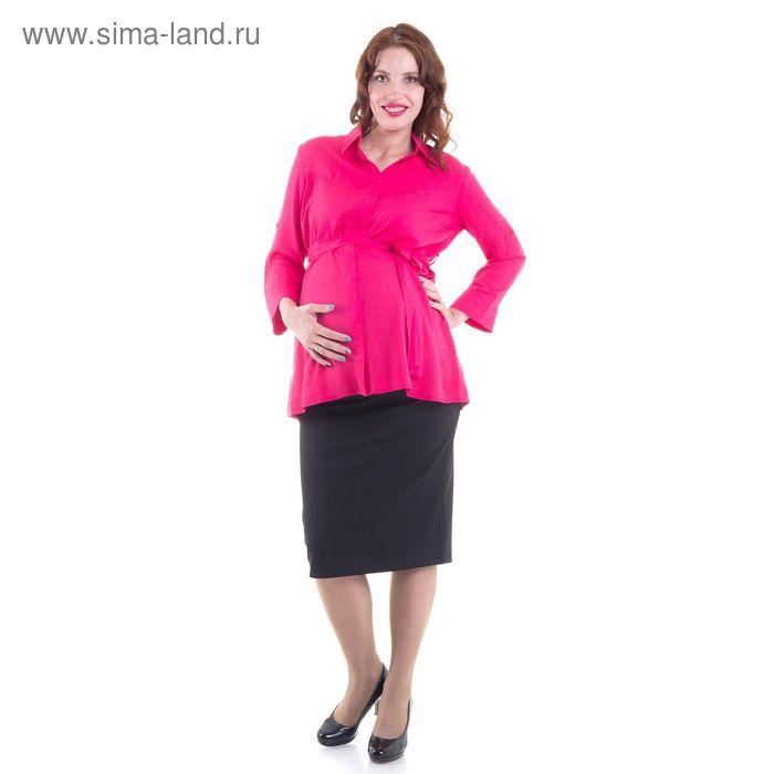 Блузка для беременных, размер 42, рост 168 см, цвет розовый (арт. 311111637)