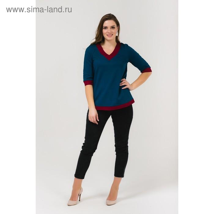 Блузка для беременных, размер 50, рост 168 см, цвет бирюзовый (арт. 31379604)