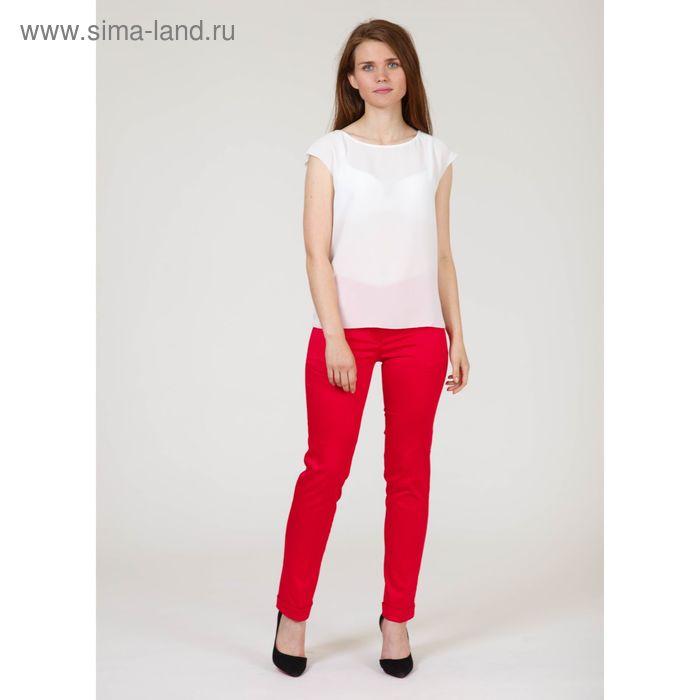 Брюки женские, размер 46, рост 170 см, цвет красный (арт. B6710-0835)