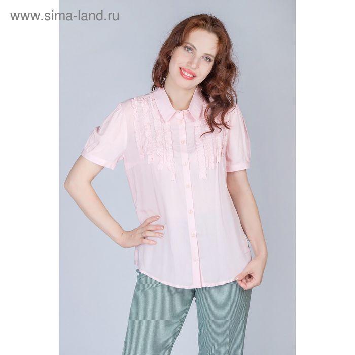 Блуза женская, размер 52, рост 170 см, цвет светло розовая (арт. Y1165-0240 new С+)
