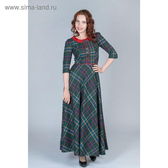 Платье женское, размер 42, рост 170 см, цвет коричнево-серый (арт. Y4384-0039)