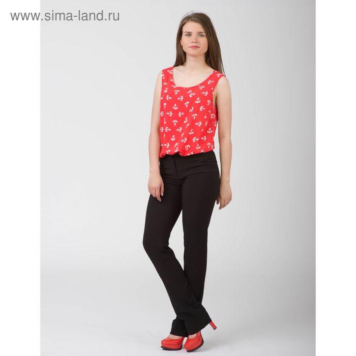Блуза женская, размер 44, рост 170 см, цвет красный белый якорь (арт. Y1155-0230)