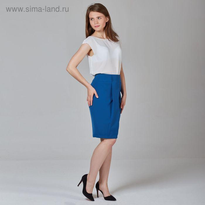 Юбка женская, размер 52, рост 170 см, цвет синий (арт. Y1513-0120 С+)