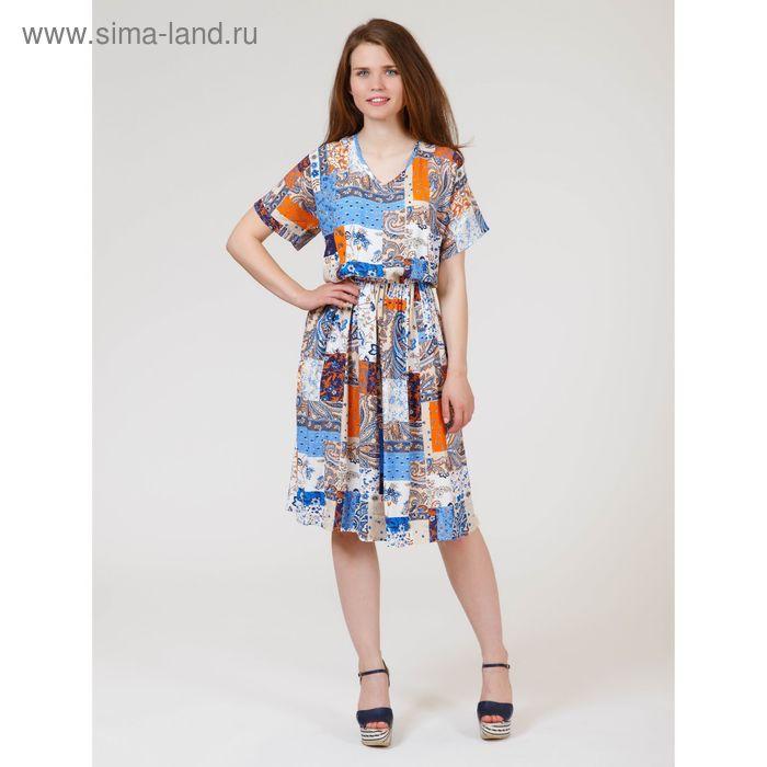 Платье женское, размер 46, рост 170 см, цвет цветной принт (арт. Y1158-0239 new)