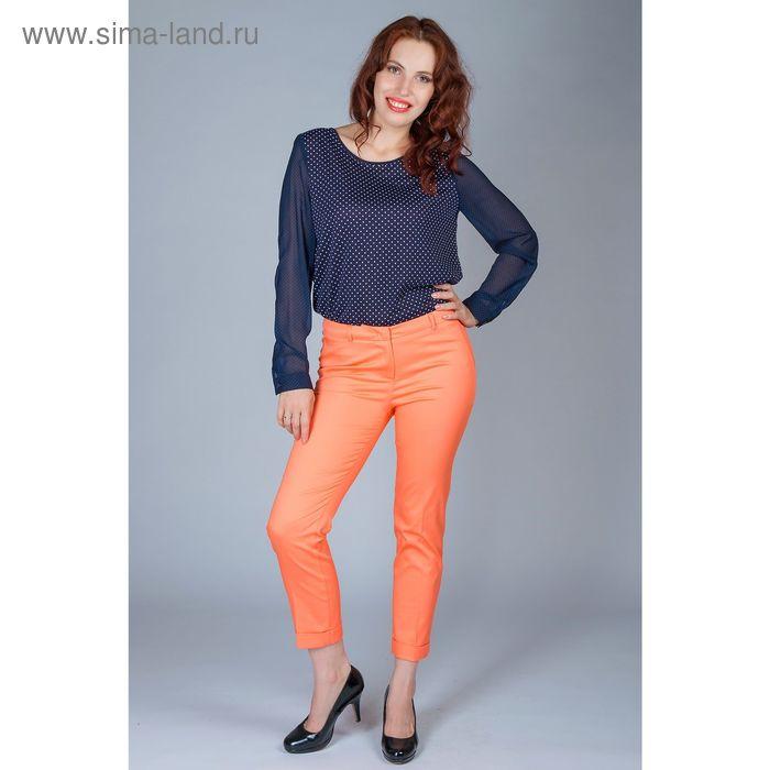 Брюки женские, размер 52, рост 170 см, цвет персиковый (арт. 6618786 С+)