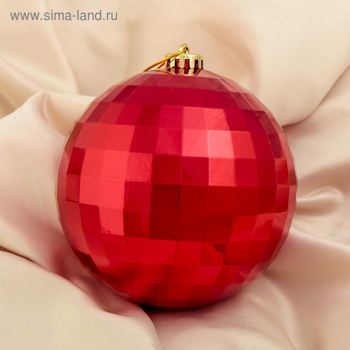 """Новогодний шар """"Дискотека"""", красный"""