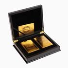 """Карты игральные пластик """"Золотая коллекция"""", 2 колоды по 54 шт, 30 мкр 8.8х5.7 см"""