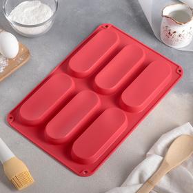 {{photo.Alt || photo.Description || 'Форма для выпечки Доляна «Эклер», 34×22 см, 6 ячеек (14,5×5,5×2 см), цвет МИКС'}}