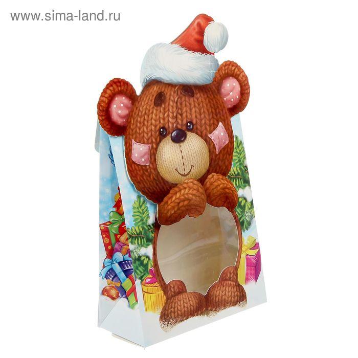 "Коробка сборная фигурная""Мишки"", 15 х22 х7 см"