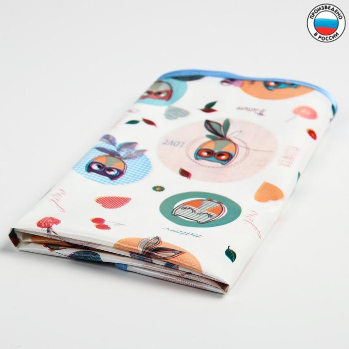 Клеёнка с ПВХ-покрытием «Совушки», 50х70 см, цвета МИКС