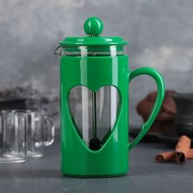 Френч-пресс Доляна «Комплимент», 350 мл, цвет зелёный