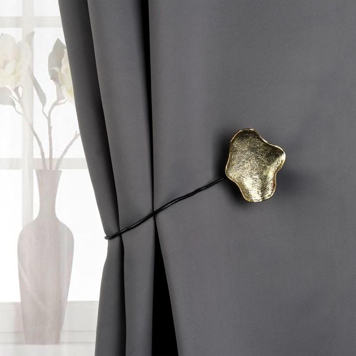 Подхват для штор «Клякса», цвет «чернёное золото»