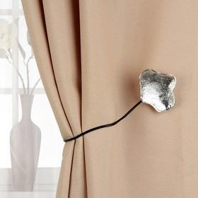 Подхват для штор «Клякса», цвет серебряный