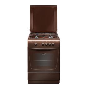 Плита Gefest 1200-С7 К19, газовая, 4 конфорки, 63 л, газовая духовка, коричневая