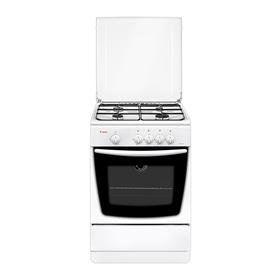 Плита Gefest 1200-С7 К8, газовая, 4 конфорки, 63 л, газовая духовка, белая