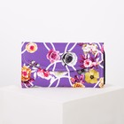 """Women's purse on the flap of """"Fantasy"""" 4 Department, on the Department for cards, color lilac"""