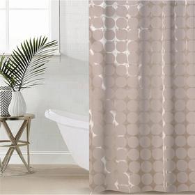 Штора для ванной комнаты Доляна «Дисперсия», 180×180 см, полиэстер, цвет бежевый