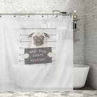 """Штора для ванной 180×200 см """"Плохой пёс"""", полиэстер"""