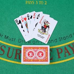 """Карты игральные пластиковые """"Casino"""", 54 шт, 8.8х5.8 см, 28 мкр, микс"""