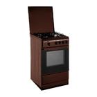 Плита газовая Terra SH 14.120-04 Br, 4 конфорки, 55 л, газовая духовка, коричневая