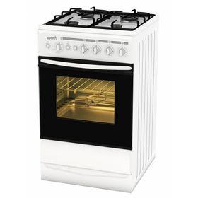Плита газовая Terra SH 14.120-04 W, 4 конфорки, 55 л, газовая духовка, белая