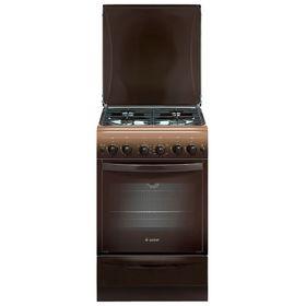 Плита Gefest 5100-02 0001, газовая, 4 конфорки, 52 л, газовая духовка, коричневая