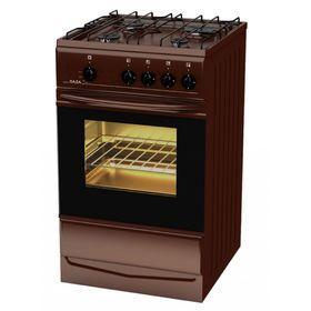 Плита газовая Лада PR 14.120-03 Br, 4 конфорки, 55 л, газовая духовка, коричневая