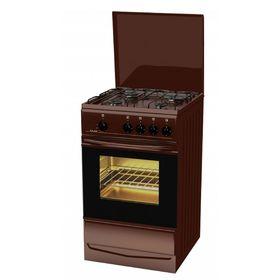 Плита газовая Лада PR 14.120-04 Br, 4 конфорки, 55 л, газовая духовка, коричневая