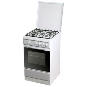 Плита газовая Лада PR 14.120-04 W, 4 конфорки, 55 л, газовая духовка, белая