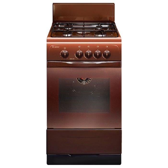 Плита газовая Gefest 3200-08 К19, 4 конфорки, 42 л, газовая духовка, коричневая