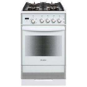 Плита газовая Gefest 5500-03 0042, 4 конфорки, 52 л, газовая духовка,  белая