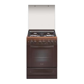 Плита газовая Gefest 6100-02 0003, 4 конфорки, 52 л, газовая духовка, коричневая