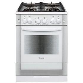 Плита газовая Gefest 6500-02 0042, 4 конфорки, 52 л, газовая духовка, белая
