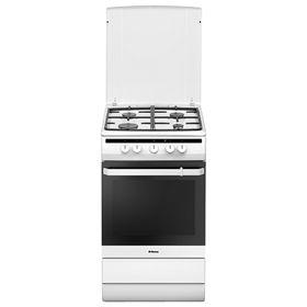 Плита газовая Hansa FCMW53020, 4 конфорки, 67 л, электрическая духовка, белая