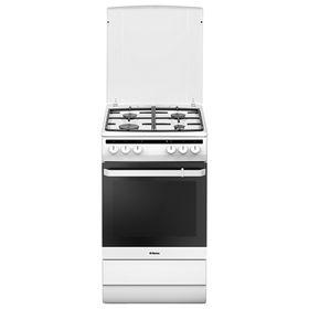 Плита Hansa FCMW58020, газовая, 4 конфорки, 65 л, электрическая духовка, белая