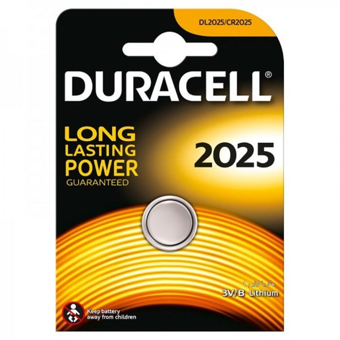 Батарейка литиевая Duracell, CR2025-1BL, блистер, 1 шт.