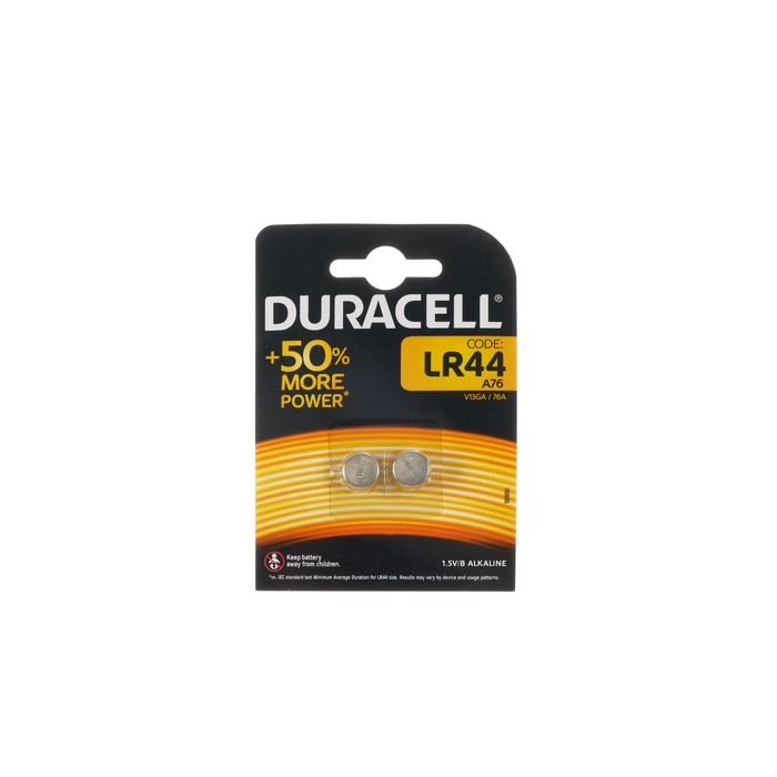 Батарейка алкалиновая Duracell, А76, блистер, 2 шт.