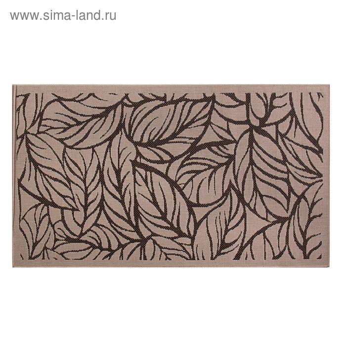 Циновка Flat 11 Шоколад sz2233c2, размер 60х110 см, ворс 100% ПП