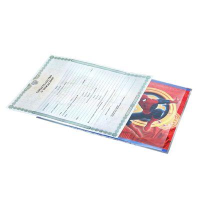 """Свидетельство о рождении """"Человек-паук"""", Человек-паук, размер файла 27,5 х 19,5 MARVEL (старый формат свидетельства)"""