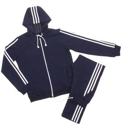 Костюм спортивный для девочки, рост 116-122 см, цвет тёмно-синий (арт. ЛС2С_Д)