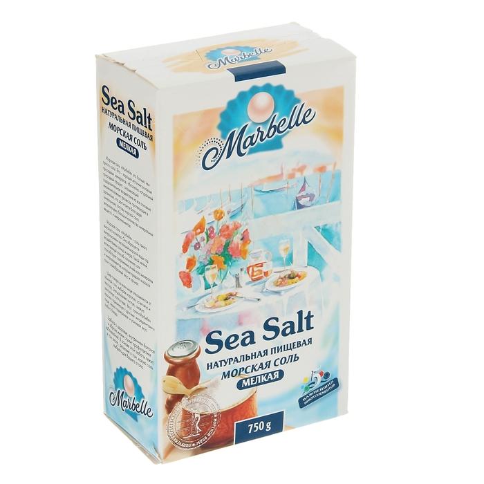 Соль морская Пудофф  Marbelle мелкая, помол №0, 750 г - фото 314816277