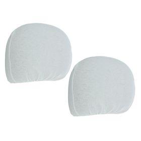 Covers for headrest, white, set of 2 PCs.