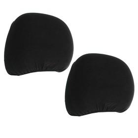 Covers on headrest, black, set of 2 PCs.