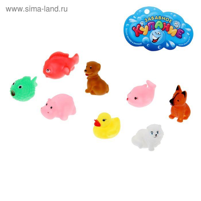 """Набор игрушек для купания """"Зоомир"""", 8 шт."""