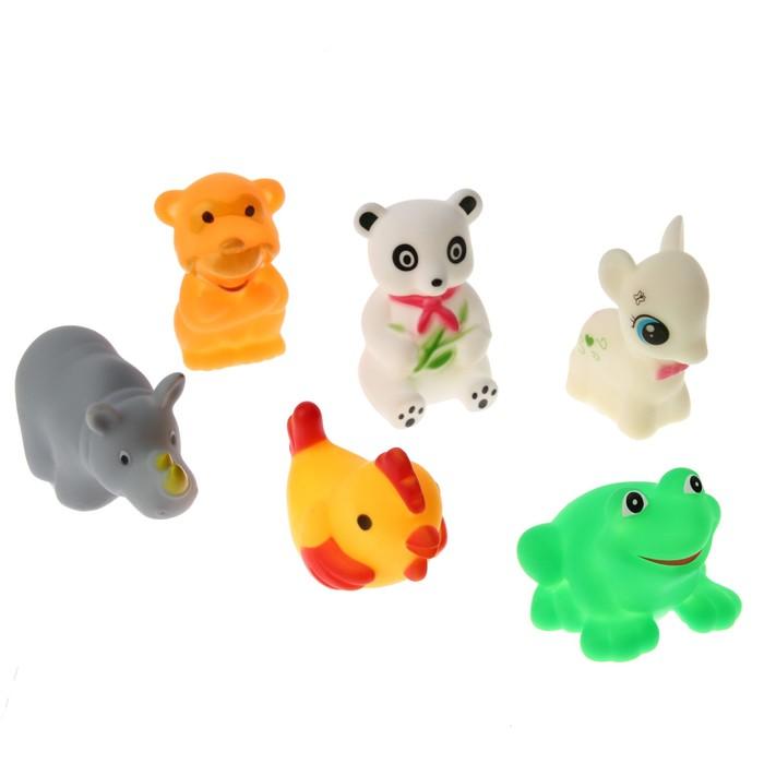 """Набор игрушек для купания """"Зверята"""", 6 шт."""