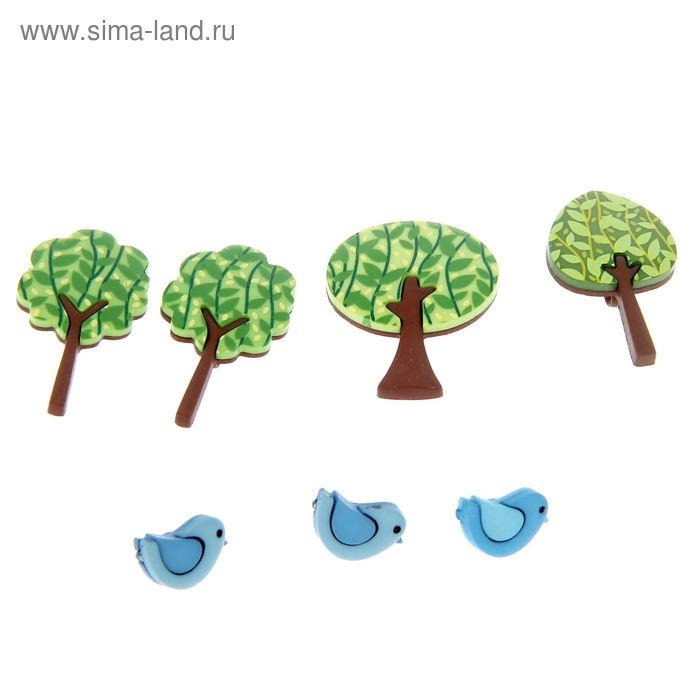 """Декор для творчества """"Лесные певцы"""" 7 шт."""
