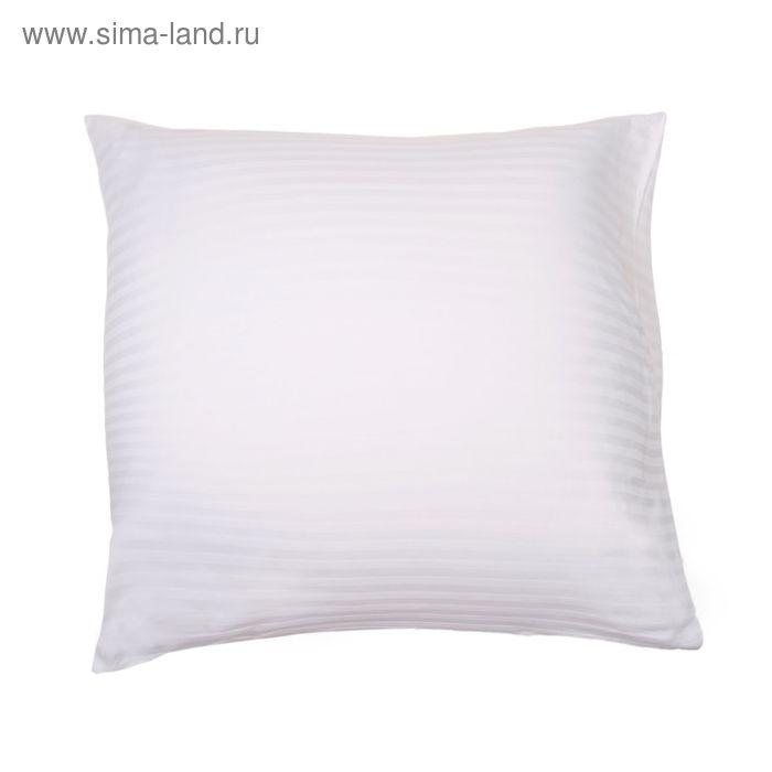 Наволочка КАРО-1 шт., размер 60х60 см, сатин-страйп 1х1 отбелённый 140 г/м2